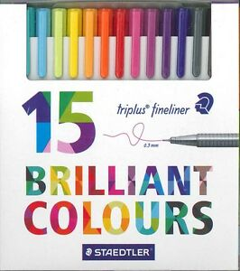Staedtler Triplus Fineliner Pens (Set of 15)
