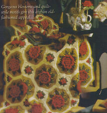 Crochet Pattern ~ CHRISTMAS POPPIES AFGHAN ~ Instructions