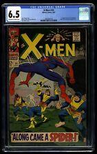 X-Men #35 CGC FN+ 6.5 Off White to White Spider-Man! 1st Changeling!