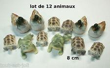 lot de 12 animaux en céramique, revendeur, gros lot, jardin, fontaine,bassin