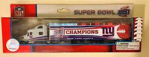 NFL PETERBILT TRACTOR TRAILER NEW YORK GIANTS SUPER BOWL XLII CHAMPIONS 2008