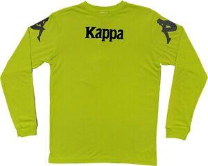 New Kappa Streetwear Authentic Bawser Neon/Black Men's Italy T-Shirt Long Sleeve