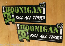 "2x Gymkahna Block Sticker ""HOONIGAN"" DC Aufkleber Drift OEM JDM Kill all Tires"