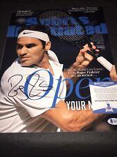 Roger Federer Signed 11x14 Photo Tennis Superstar Switzerland Beckett