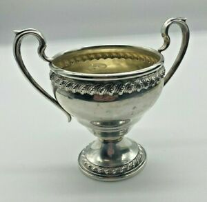 Sterling Silver  Sugar Bowl 125 Grams WEIGHTED BASE-J RODGERS STERLING-PAT #1910