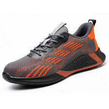 Mens Sports Sneakers Steel Toe Safety Shoes Work Boots Lightweight Construction