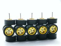 10sets Watanabe 8sp chrome TOYO TIRES long axle fit 1:64 hot wheels rubber tires