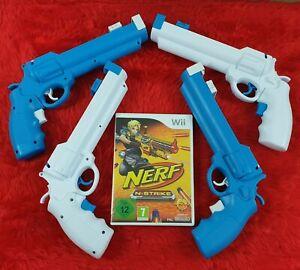 wii NERF N-STRIKE + REVOLVER LIGHT GUNS Multiplayer Shooter