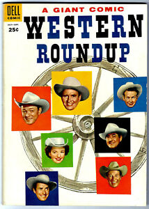 Dell Giant WESTERN ROUNDUP #11 in VF condition a 1955 DELL Golden Age Comic