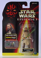 NIP MOC STAR WARS Qui-Gon Jinn Jedi Duel .00 Episode 1 CommTech Chip Figure MOSC