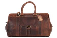 Large Vintage Real Leather Holdall Rugged Duffle Travel weekender Mens Bag BNWT