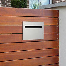 MILKCAN Chelsea A4 FENCE MOUNT LETTERBOX Wall 304 STAINLESS Mailbox Picket Fence