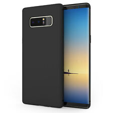 Samsung Galaxy Note 8 Case Slim Line Silicone Ultra Soft Gel Cover - Matte Black