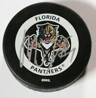 Florida Panthers Roberto Luongo Signed Autographed Game Puck NHL Hockey