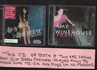 Amy Winehouse Back To Black and Frank TWO CD Albums