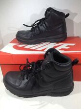NIKE Mens Manoa Black Leather Casual Hiking Trail Boots Shoes Size 9.5 ZH-1853