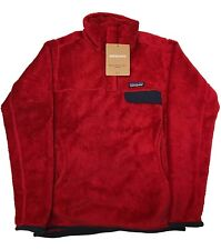 Patagonia Women's Re-Tool Snap-T Fleece Pullover Raspen Red Small Sale New!