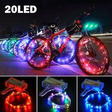 1/2 PCS 20 LED Bicycle Cycling Rim String Lights Bike Open & Close Wheel Spoke