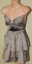 Womens Gorgeous Raw Silk Bow Bust Dress - Miss Lyndel Yeo - Size XS