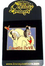 Le Disney Auctions Pin✿Cruella DeVil 101 Dalmatians Evil Villain Model Sheet Dog