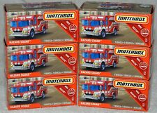 Matchbox Power Grabs 2019 #60 Rescue #1 Hazard Squad Fire Rescue #5 red lot of 6