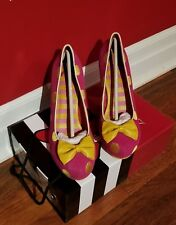 Angie P Lola Ramona Pink with Yellow polka dots Heels sz40eu 9us