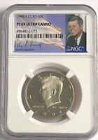 1998 S NGC PF69 PROOF CLAD KENNEDY HALF DOLLAR ULTRA CAM JFK COIN SIGNATURE 50C