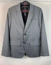 Victorinox Swiss Army Men's Jacket Size 44 Grey Classic Blazer Wool Blend Coat