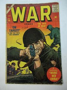 WAR COMICS  #49  (1957)  1.5 FR/GD