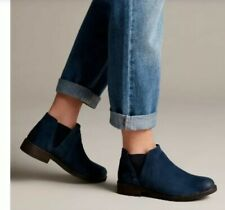 Clarks Ladies Navy Suede DEMI BEAT ankle boots Uk Size 4D/37