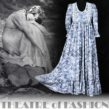 VINTAGE LAURA ASHLEY DRESS 70s WEDDING 6 8 10 12 INDIAN 60s BOHO VICTORIAN WALES