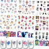 Nail Water Decals Flower Animal Butterfly Transfer Nail Art Stickers Decoration
