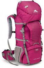 High Sierra Women's Backpack Explorer 50 Internal Frame Pink Rugged Rain Cover