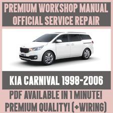 *WORKSHOP MANUAL SERVICE & REPAIR GUIDE for KIA CARNIVAL 1998-2006 +WIRING