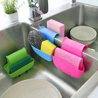 Dual Sink Caddy Saddle Style Kitchen Organizer Storage Sponge Holder Rack Tool~E