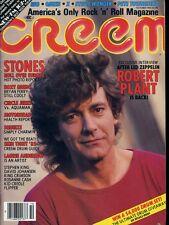 Led Zeppelin Robert Plant Stones Stephen King Creem Magazine Oct 1982 #X2698