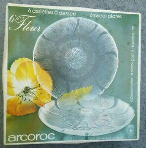 Arcoroc J0232 Fleur Glass 7-1/2 Inch Dessert Plate - 6 / Box