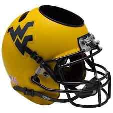WEST VIRGINIA MOUNTAINEERS WVU NCAA Schutt Mini Football Helmet DESK CADDY
