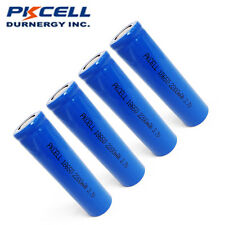 4pcs 18650 Rechargeable Li-ion Battery 2200mAh 3.7V Unprotected For Flashlight