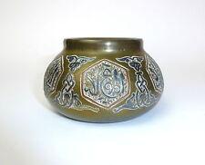 Bronze Vase mit Silbereinlagen Damaskus um 1920