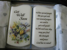 HEARTSTEPS....GET WELL SOON.... STAND UP BOOK PLAQUE