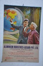 Vintage Jawahar Lal Nehru Print Aluminium Industries Ltd Ad Litho Paper Sign