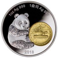 2018 China Phil ANA World's Fair of Money Panda 1 oz Silver Proof Medal SKU54561