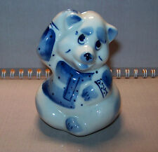 Vintage Big Porcelain figurine Gzhel hand painted BEAR Original Russia