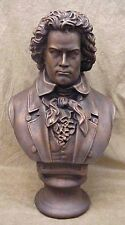 """Bust of Beethoven Large Sculpture Music Statue Art 18"""""""