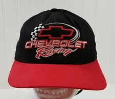 Chevrolet Racing Black/Red Ball Cap Hat by Crusin Sports USA Snap back Embroider