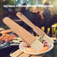 Wooden handle Oil Brush Baking Bakeware Bread Cook Pastry BBQ Basting Brush NEW