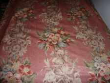 "Vintage barkcloth fabric DRAPES 2 panels 93"" long cotton / rayon PINK ISH"