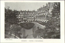 64 BIARRITZ HOTEL D' ANGLETERRE IMAGE 1908 OLD PRINT