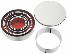 JUDGE Set 6 Round Metal Biscuit/Cookie Cutters in Tin. Home Baking/Cakes/Icing.